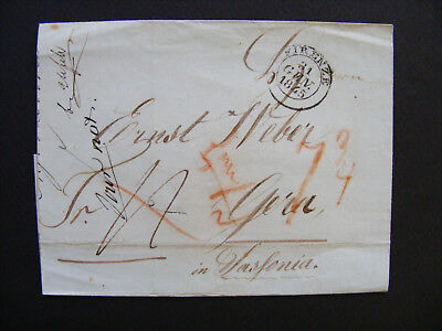 (B48) Vorphila Brief - Stampless Cover Lettre from Firenze - Florence ITALY 1845