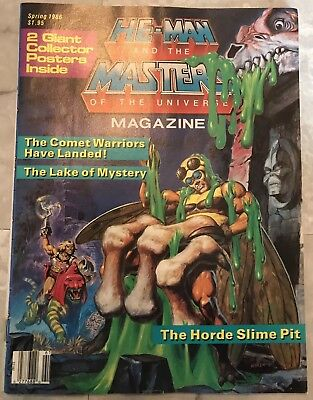 He-Man & Masters of the Universe Magazine Spring #2 1986 w/Posters VG+ 4.5