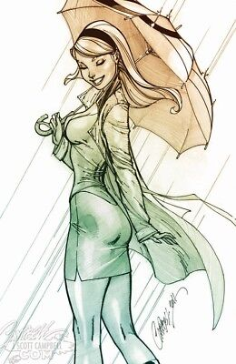 Amazing Spider-Man #14 J Scott Campbell Gwen Stacy Sketch Signed No Reserve
