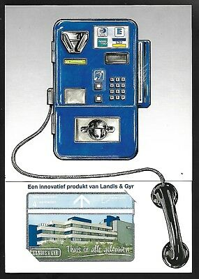 Netherlands Landis & Gyr Mint Phonecard In Issue Folder