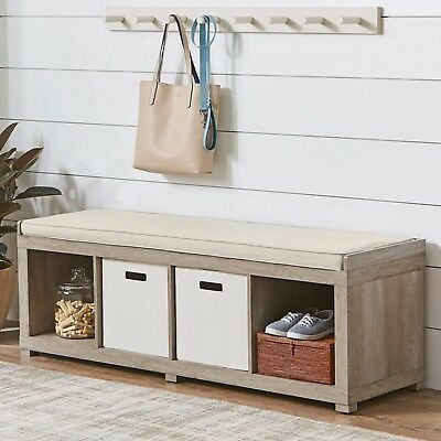Peachy Entryway Storage Bench Wood Room Cushion Sitting Furniture Uwap Interior Chair Design Uwaporg
