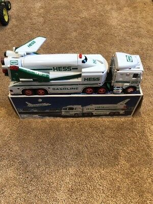 Pre-owned Hess Toy Truck And Space Shuttle With Satellite 1999