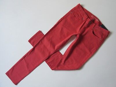 NWT American Eagle Outfitters Skinny in Deep Coral Low Rise Stretch Jeans 6