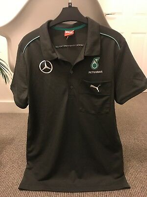 Mens Peteonas AMG mercedes Formula 1 F1 One Memorabilia Polo Small Unique Gift