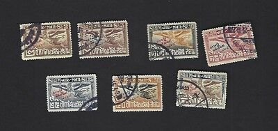 THAILAND sc#C1-8 Missing #C3 (1925) With Government Museum Overprint Used