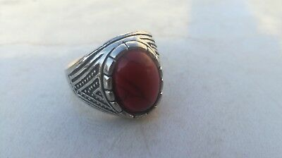 Rare Ancient Solid Ring Roman Silver Stunning Artifact Rare Type with Stone