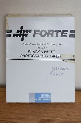 Forte SemiMatt Cold Tone Fibre Based MultiContrast- 51 sheets - 8x10""