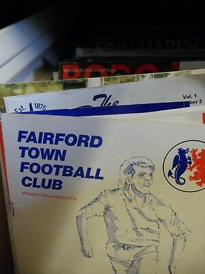NON LEAGUE Football programmes F-K Home team 1960-2018 England Scotland Wales