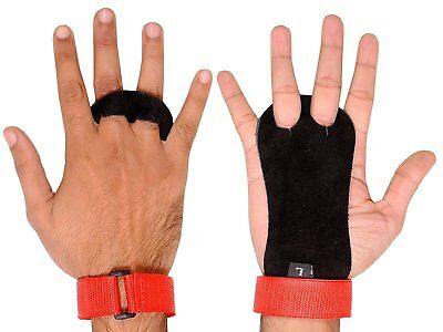Kids Children crossfit Gymnastic Leather grips palm protectors junior Boys Girls