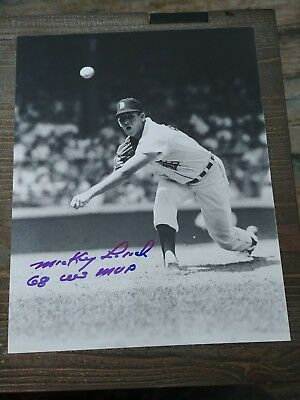 Mickey Lolich Detroit Tigers Signed 8x10