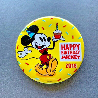 Disney Parks Mickey Mouse Happy 90th Birthday Button Exclusive 2018 D23.