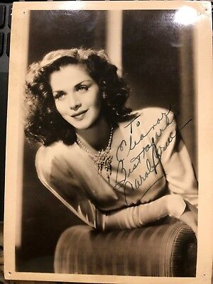 Carol Bruce Signed Vintage Photo Wwii Glamour Singer Actress Abbott & Costello