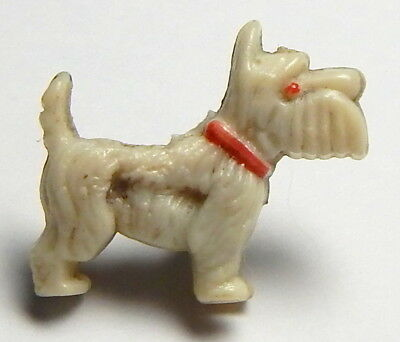 "Sweet 1950's Realistic French ""scotty Dog"" Child's Button"