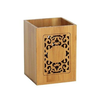 Elegant wooden (natural bamboo) pen pencil holder cup