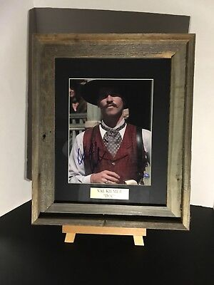 """TOMBSTONE SIGNED MOVIE PICTURE SIGNED BY VAL KILMER """"Doc Holliday"""" COA AUTHENTIC"""