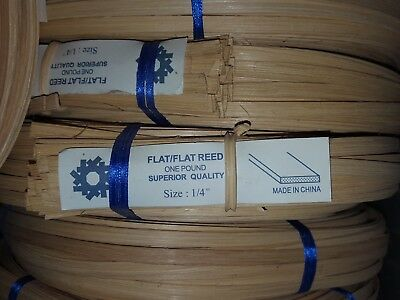 """Flat  Reed 1/4"""" 1 Pound Chair Caning Basketry"""
