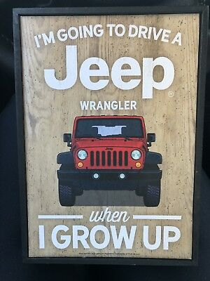 jeep sign Wood