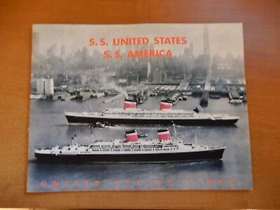 S.s. United States S.s.  America Travel Brochure Westheim Travel Services