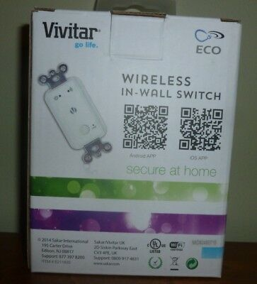 Vivitar ECO Wireless In Wall Switch E211835 New but Box Opened