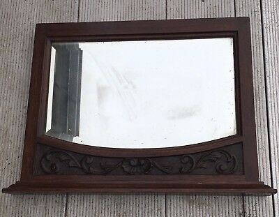 Antique Mirror Wooden Frame Probably Off A Piece Of A Furniture Or Bar Fitting