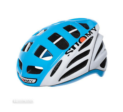 Suomy GUN WIND Hi Viz High Visibility Road Cycling Helmet : WHITE/LIGHT BLUE