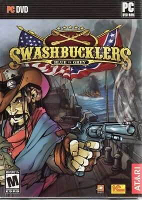 Swashbucklers: Blue vs. Grey (PC-DVD, 2007) for Windows - NEW in DVD BOX