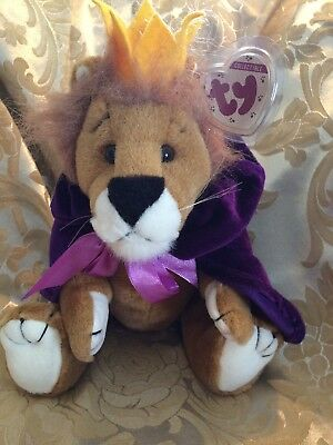 "1993 Ty Collectible Attic Treasures Beanie Babies SIRE King Lion w/Tags  (12"")"