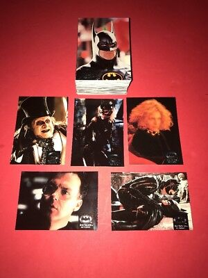 1992 Batman Returns 100 card Complete Trading Set By Topps Stadium Club Nr-Mt/Mt