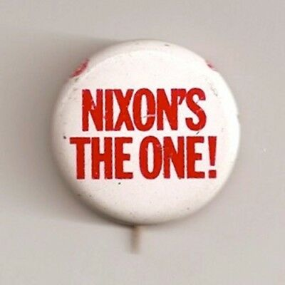 1968 Richard M. Nixon President Campaign Button NIXON'S THE ONE 1 1/8 inch litho