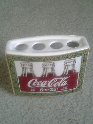 COCA COLA 6 for 25 cents ADVERTISING VINTAGE CERAMIC TOOTHBRUSH HOLDER fr estate