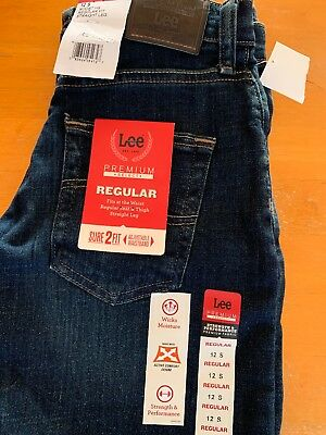 NWT Boy's Lee's Jeans Size 12S Regular Relaxed Fit Straight Leg