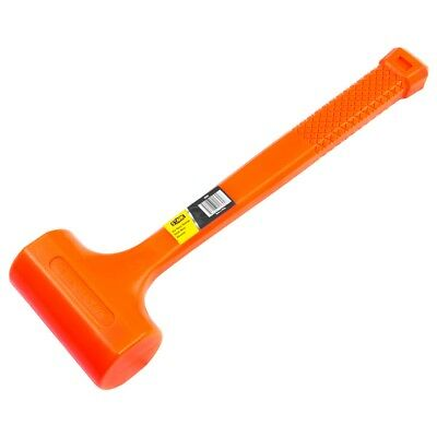 "2lb DEAD BLOW Hammer Mallet Plastic Neon Orange 11 3/4"" non spark double face"