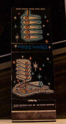 Rare Vintage Matchbook Cover K3 California Inglewood Long Beach Norm's Hollywood
