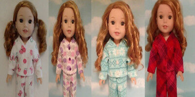 Doll Clothes Pajamas Fits 14.5 inch American Girl Wellie Wishers Doll 255abcd
