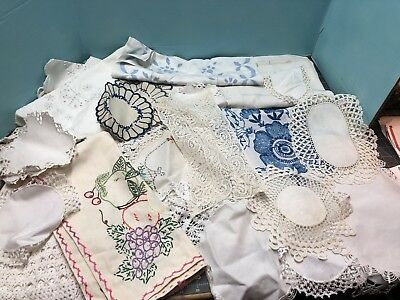 Huge Lot Of Vintage Linens Crochet Doilies...LQQK!  #6