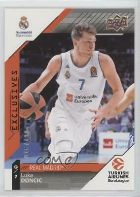 2017 Upper Deck Euroleague Exclusives  1 Luka Doncic Real Madrid CF Rookie  Card ca15d0e33