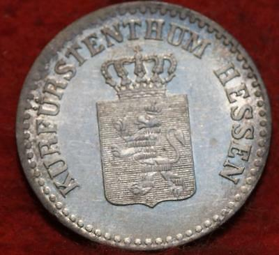 Uncirculated 1841 German States Hesse-Cassel 1 Groschen Silver Foreign Coin