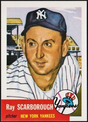 1953 Topps (1991 Archives reprint) #213 Ray Scarborough, New York Yankees