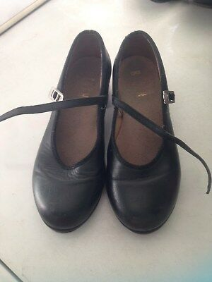 Bloch Black Tap Shoes girls size 13
