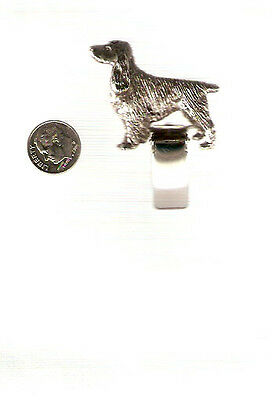 English Springer Spaniel Nickel Silver Ring Clip Pin Jewelry LAST ONE!