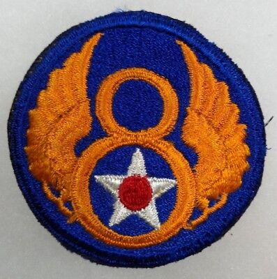 VINTAGE WWII US ARMY 8th AIR FORCE AAF PATCH SSI      Original0