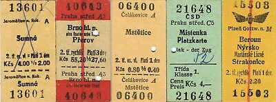 Railway tickets Czechoslovakia CSD various used and unused issues as seen 2