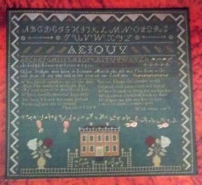 1814 The Scarlet Letter Sampler Counted Cross Stitch Magazine Pattern HS1