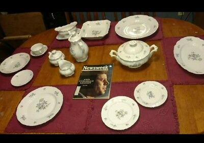 Vintage & Rare Antique Fine Bohemian China Dinnerware Set Made In Czechoslovakia