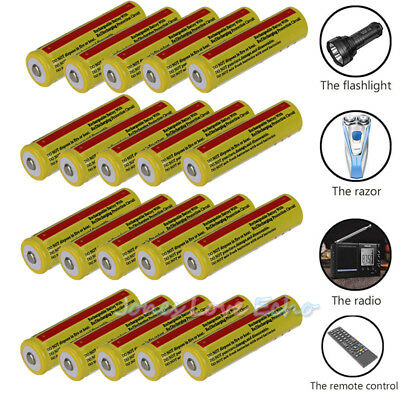 Lot 18650 Battery 5000mAh Li-ion 3.7V Rechargeable Batteries for LED Flashlight