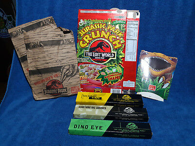 Vintage Jurassic Park Lot Burger King Watch Cereal Crunch Macdonald