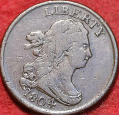 1804 Philadelphia Mint Copper Draped Bust Half Cent