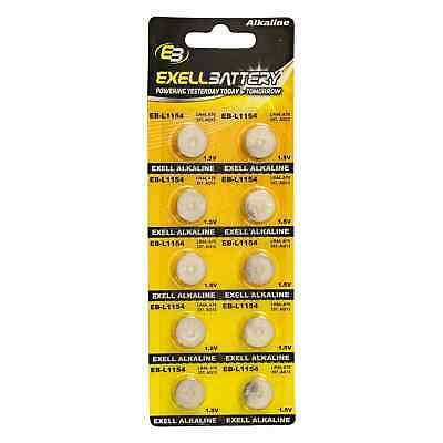 10pk Exell EB-L1154 Alkaline 1.5V Watch Battery Replaces AG13 357 LR44