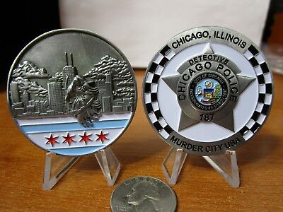 Chicago Police Detective Murder City USA CPD Challenge Coin