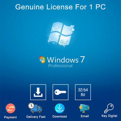 Windows 7 Professional Key 32-64bit Download Activation Genuine